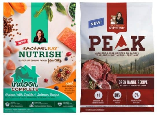 Free Sample of Rachael Ray Nutrish Indoor Complete Dry Cat Food OR PEAK Dry Dog Food