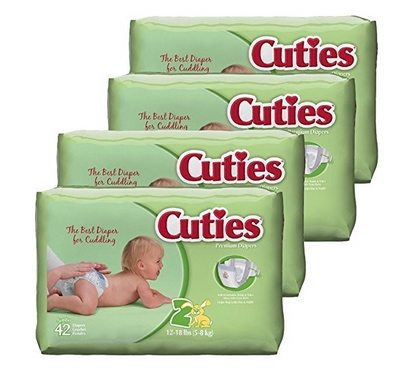 Cuties Baby Diapers Size 5 (108 Count) $7.29 **Only 6¢ Per Diaper**