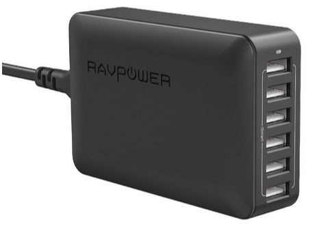 RAVPower 6-Port USB Charging Station with iSmart Technology $16.79 (Was $40) **Today Only**