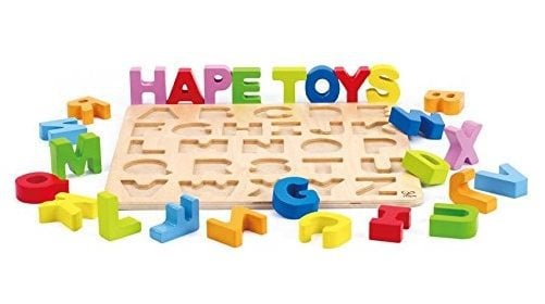 Hape Alphabet Stand Up Wooden Puzzle Only $10.85