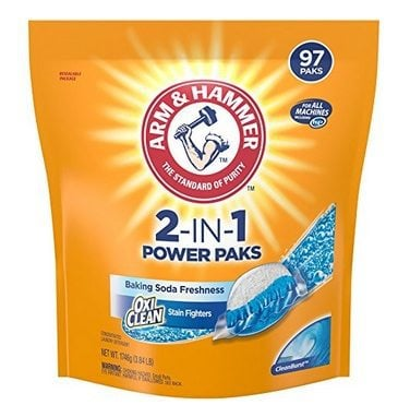 Arm & Hammer 2-IN-1 Laundry Detergent Power Paks 97 Count $8.27 **Only 8¢ Per Load**