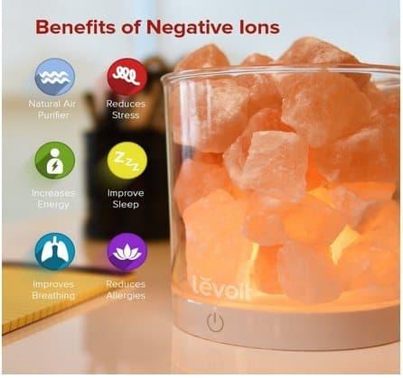Levoit Cora Glow Himalayan Salt Lamp $19.99 <br>(Was $40)