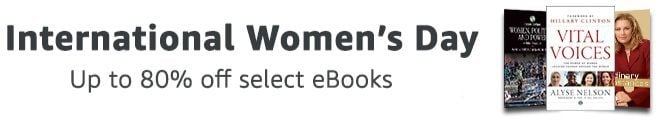 Up to 90% Off Select eBooks for International Women's Day **Today Only**
