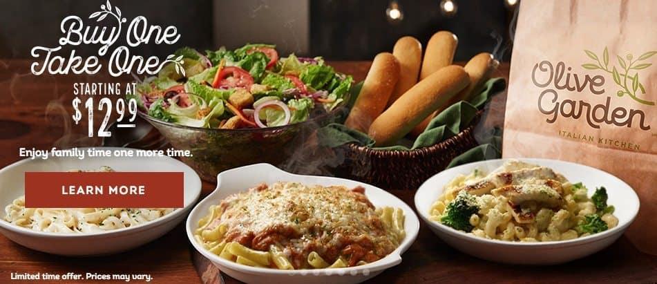 Olive Garden 4 Entrees 2 Soups Salads 4 Breadsticks And 1 Kids Meal For Under 27 Swaggrabber