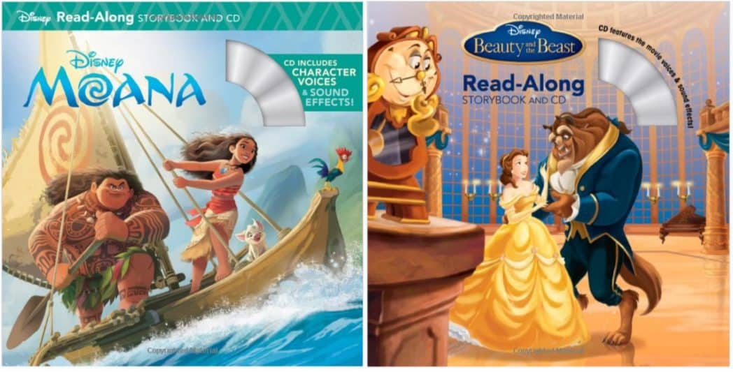 Moana, Beauty and the Beast, & More Read-Along Storybook & CD Sets Only $3.73 Each