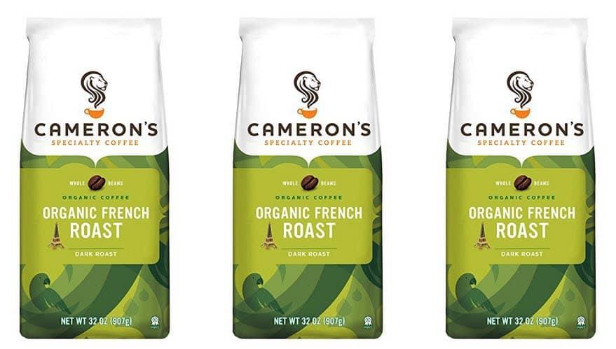 2 Pounds of Cameron's Organic Whole Bean Coffee $10.43 - $5.23 Per Lb.