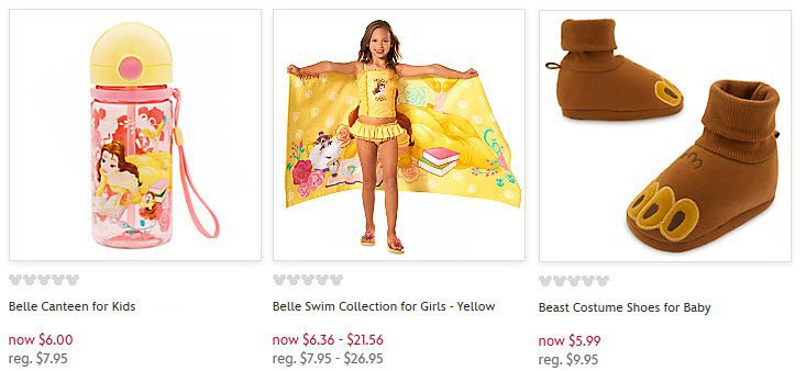 Disney Store: FREE Shipping with Beauty and the Beast Purchase - Items Start at Only $1.50