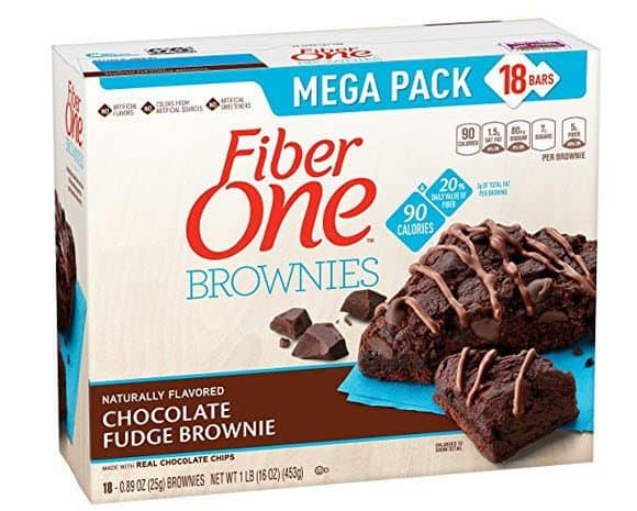 Fiber One 90 Calorie Chocolate Fudge Brownies 18-Count $4.97 Shipped **Only 27¢ Each**