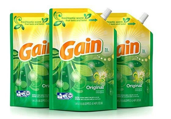 Gain Smart Pouch Liquid Laundry Detergent $3.55 Each Shipped - 11¢ Per Load **HOT**