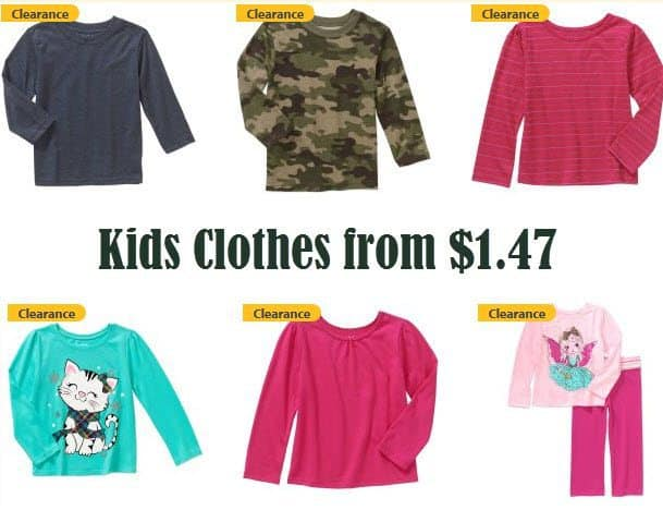 Walmart.com: Kids Garanimals Clothes from ONLY $1.47 **Stock Up Time**