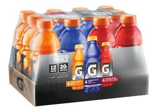 12 Pack of Gatorade (Variety Flavors) $7.20
