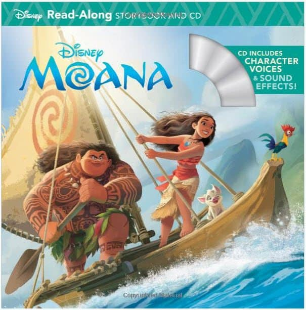 Moana Read-Along Storybook & CD Only $3.73 (Was $6.99)