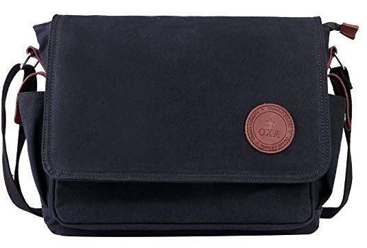 OXA 12-Inch Canvas Messenger Bag, Shoulder Bag $9.80 (Was $30)