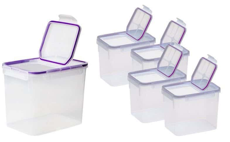 4 Pack of Snapware Airtight Plastic 17-Cup Fliptop Food Storage Containers $16 (Was $39)