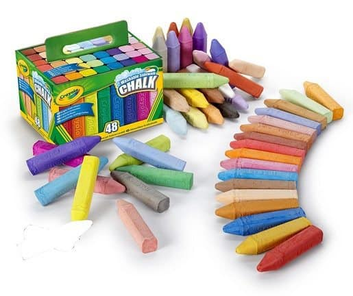 Crayola 48 Count Sidewalk Chalk Only $3.99