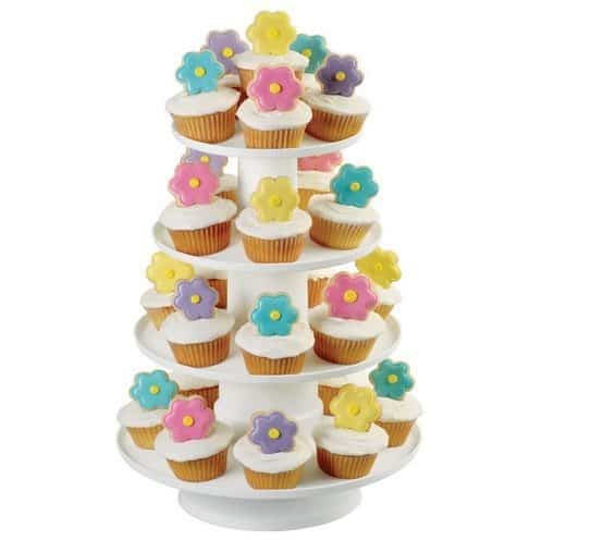 Wilton 4-Tier Stacked Cupcake and Dessert Tower $12.22
