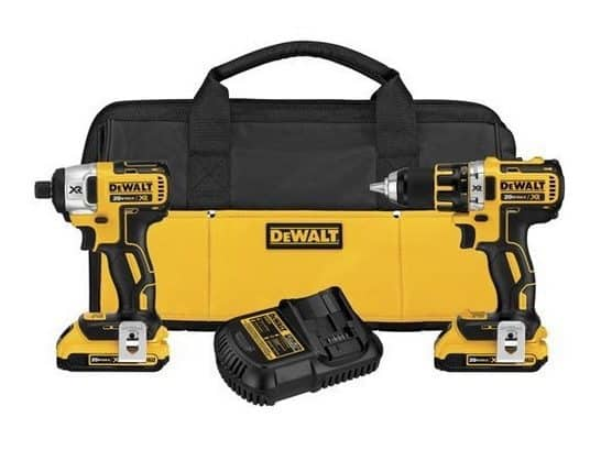 DEWALT 20V MAX Brushless Compact Drill/Driver & Impact Driver Combo Kit $179 **Today Only**