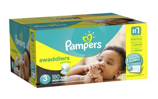 Pampers Swaddlers Diapers Size 3 (180 Count) $21.51 **Only 12¢ Per Diaper**