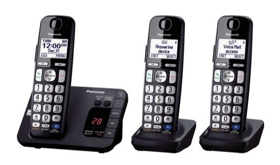 Panasonic Cordless Digital Phone with 3 Handsets $49.99 (Was $89.95) **Today Only**