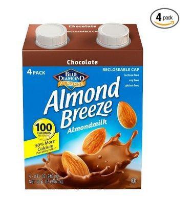 Blue Diamond Almond Breeze Chocolate Almondmilk 4-Pack $1.87 **Only 47¢ Each**