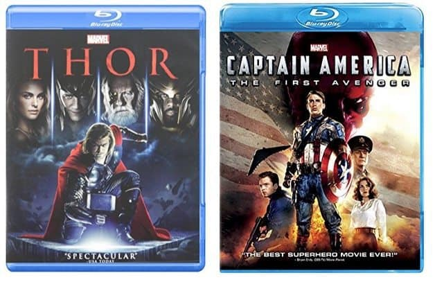 Thor and Captain America on Blu-ray Only $6.50 Each