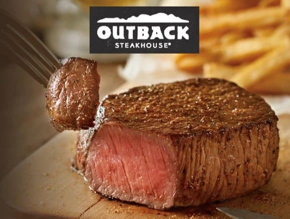 Outback Steakhouse: $5 Off 2 Dinner Entrees OR $4 Off 2 Lunch Entrees