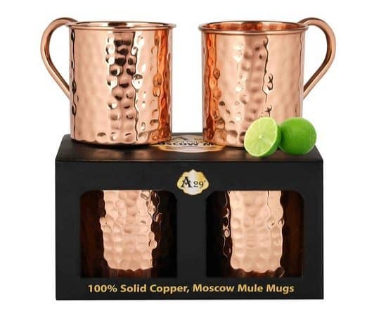 Set of 2 Moscow Mule Hammered Copper Mugs Only $19 (Was $70)