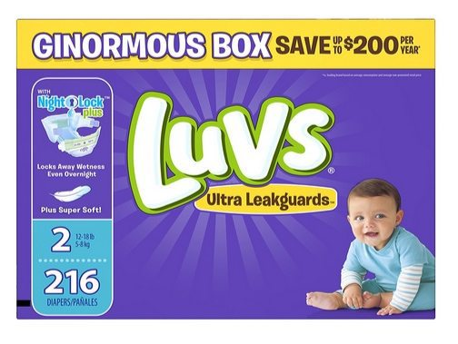Luvs Ultra Leakguards Diapers Only 6¢ Each