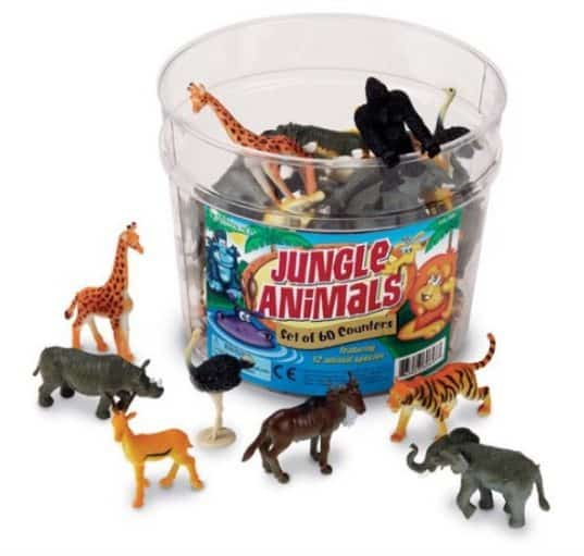 Learning Resources Set of 60 Jungle Animal Counters Only $11.65
