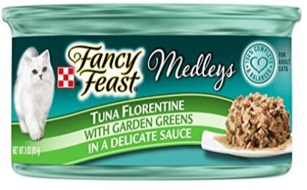 Purina Fancy Feast Medleys Florentine Collection Gourmet Wet Cat Food 24 Cans Only $12.13