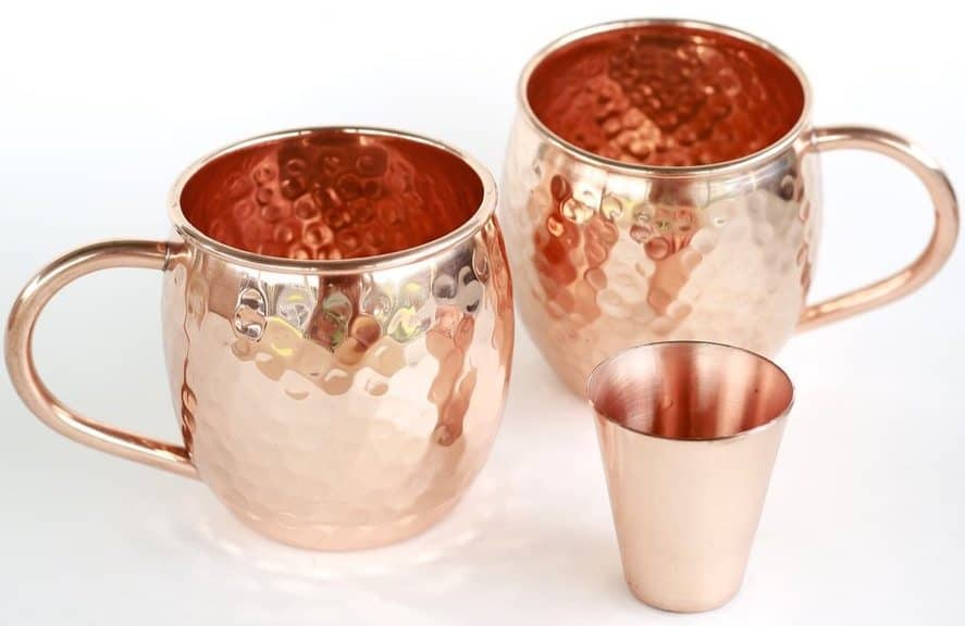 Set of 2 Moscow Mule Copper Mugs with Shot Glass $25.99 (Was $70) **Today Only**