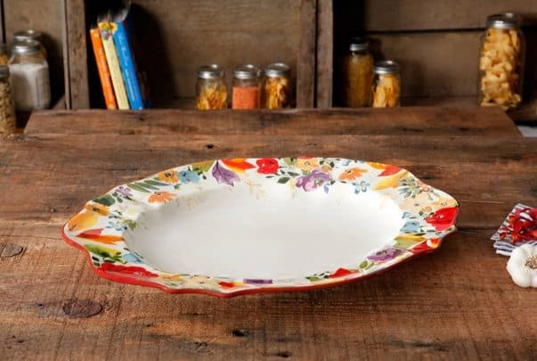 """The Pioneer Woman Timeless Floral 21"""" Serving Platter Only $15.59 (Was $35.20)"""