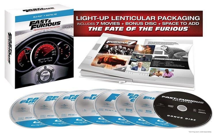 Fast & Furious 7-Movie Collection on Blu-ray $27.99 **Today Only**
