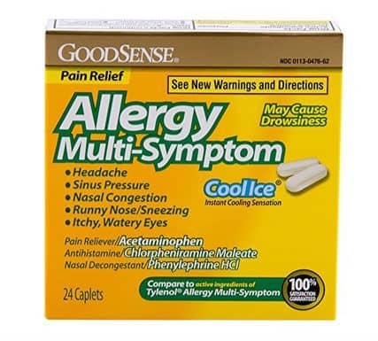 Stock up on Good Sense Allergy Medication for only $1.08 each