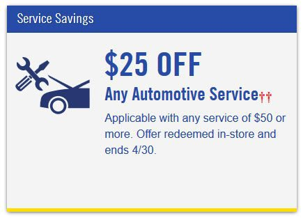 $25 off Any $50 Good Year Automotive Service