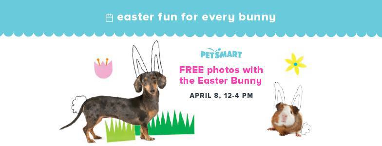 Petsmart: Pet Photo with The Easter Bunny on April 8th