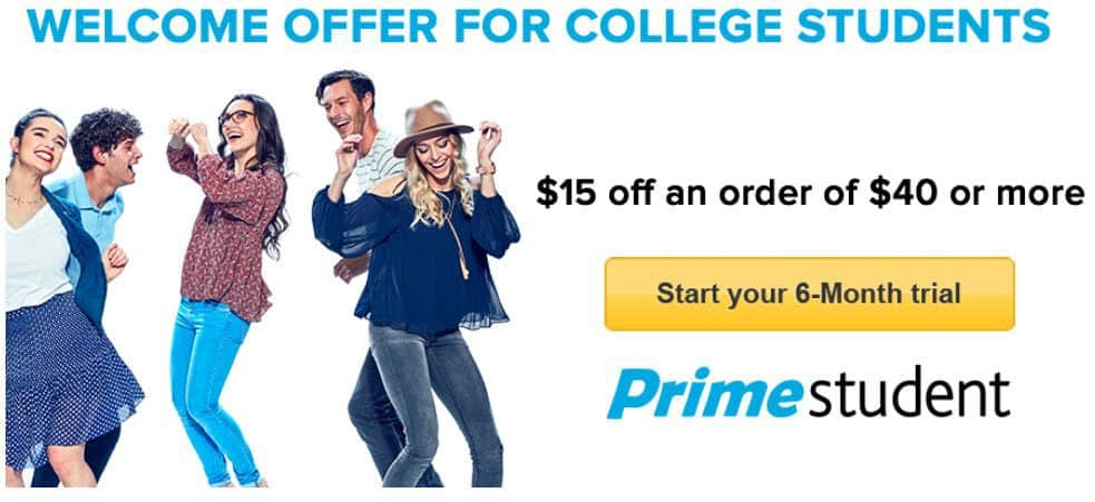$15 off Any $40 Amazon Purchase **Valid for Students Only**