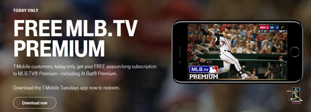 FREE MLB.TV Premium for T-Mobile Customers on 3/4