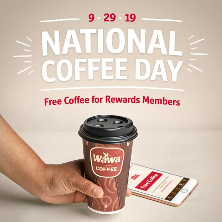 Free Cup of Coffee at Wawa on September 29
