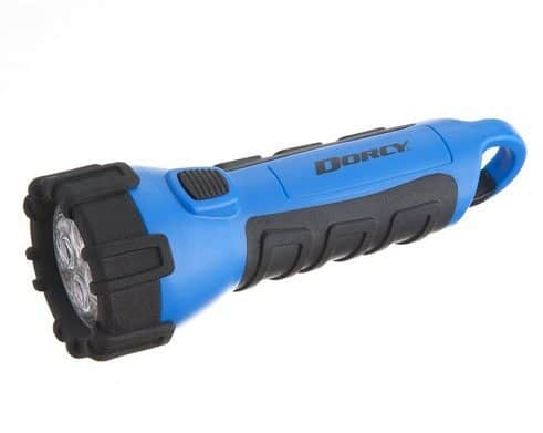 Dorcy Floating Waterproof LED Flashlight with Carabineer Clip Only $3.30