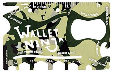 Wallet Ninja 18-in-1 Multi-Purpose Pocket Tool $3.18