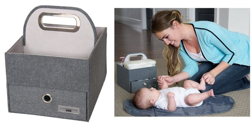 JJ Cole Heather Diaper and Wipes Caddy $10.96 <br>(Was $29.95)