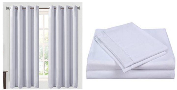 80% Off Balichun Blackout Curtains and Sheet Sets **Today Only**