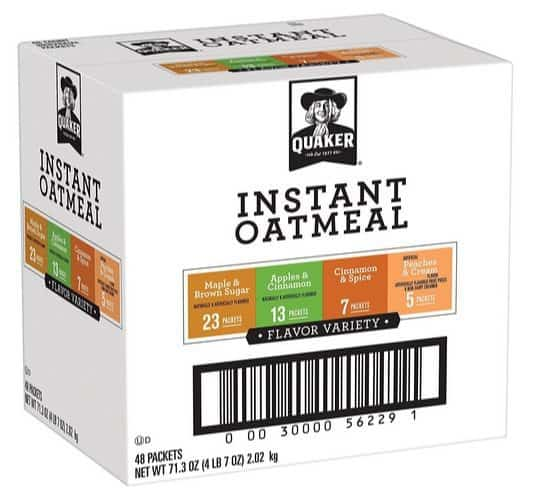 Quaker Instant Oatmeal Variety Pack 48 Count $7.07 Shipped **Only 15¢ Each**