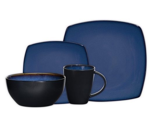 Gibson Soho Lounge 16-Piece Square Reactive Glaze Dinnerware Set Only $26.40