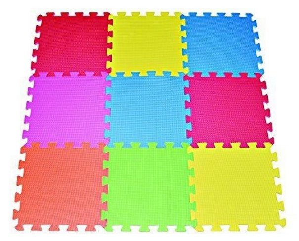 9-Tile Multi-Color Foam Kids Playmat Kids $11.36 <br>(Was $39.98)