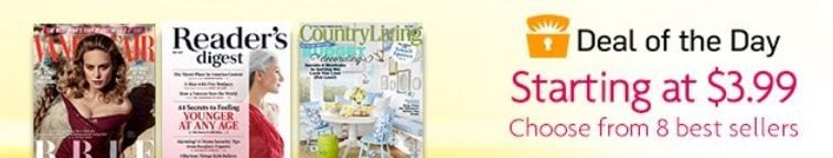 Amazon: Magazine Subscriptions Only $3.99 ~ <br>Up to 93% Off Newsstand **Today Only**