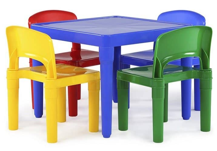 Tot Tutors Kids Plastic Table and 4 Chairs Set Only $32.06