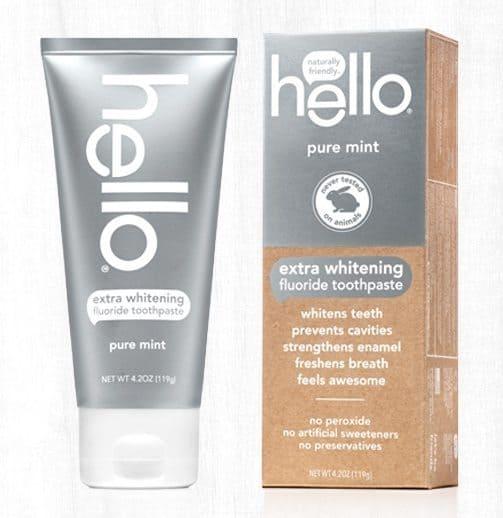 Free Sample of Hello Extra Whitening Toothpaste