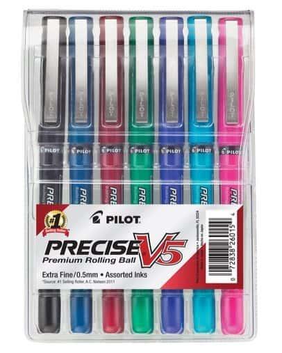 Pilot Precise V5 Roller Ball Stick Pens 7 Pack Only $2.05